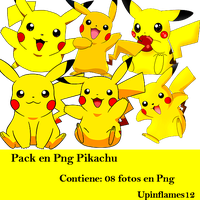 +Pack Png Pikachu by Upinflames12