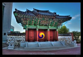 Songahm Martial Arts Gate HDR by joelht74