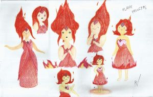 Flame Princess (Color Pencil) by TheR-tist