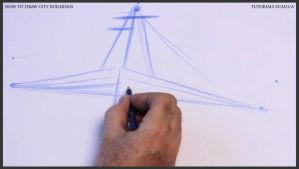 Learn how to draw city buildings 003 by drawingcourse