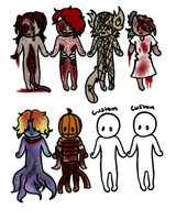Halloween Adoptable Batch 3 -Open- by PlagueDoc3