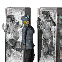 rebel girls in carbonite by willartmaster