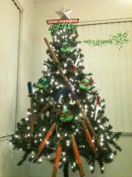 COWABUNGA Christmas Tree !!! by RockerDragonfly