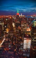 Empire State Night by Kamal-Q