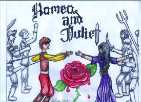 Romeo and Juliet bleeding rose by SabastionLover
