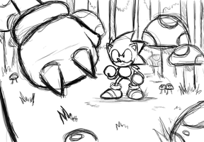 Sonic vs Knuckles by TrueRetroSonic