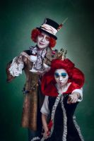 Red Queen and Mad Hatter by LIVIUMphotography