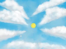 Cloudy Sky by Sellotape-of-Love