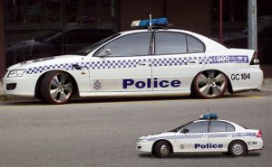 Aussie Cop Car by SuperSprayer