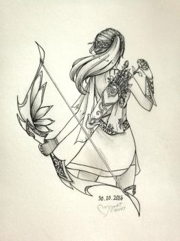 Inktober :: Flower arrows by ufo-galz