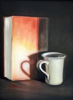 Book and Cup by Maciesowicz