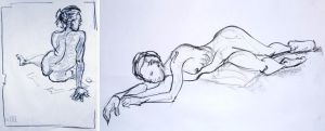 Life Drawing December 2011 by Gizmoatwork