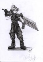 Cloud Strife FF7 by KurotsukiRenji