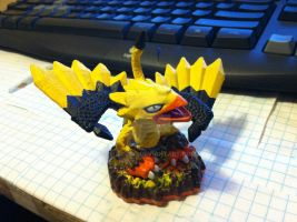 Skylanders: Flashwing + Electricity = Zapwing by neilsugg