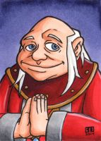 Dungeon Master Sketch Card by TheRigger