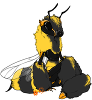 Nameless Bee - Color Reference by mosslamb