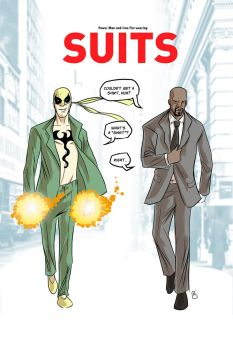 Power Man and Iron Fist in SUITS by nandop