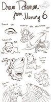 Draw Pokemon From Memory 6 by ShadeofShinon