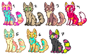 a lot of adopts ONE LEFT by ooshii