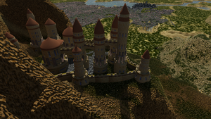 Dhalem Castle Scene 01 by The-Port-of-Riches