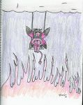 Hellfire Swingset. by amberlyn