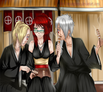Asuka and The Koujima Brothers (Bleach OC) by MyangHime
