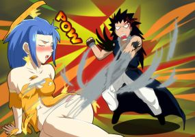 Fairy Tail Gajeel Levy Requested threatningroar by Mr123GOKU123