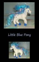 Little Blue Pony by SilverGryphon8