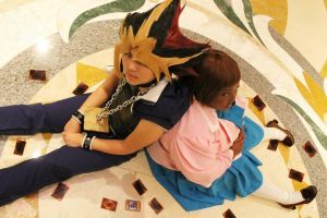 Cosplay - Yami Yugi and Anzu @ Otakon Vegas by slifertheskydragon