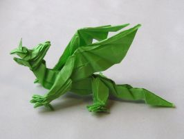 Dragon-k_ouch! by OrigamiPhoenix