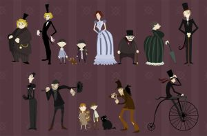 Victorian Lineup by rhianimated