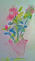 Pink Roses  LProctor by LaurieLefebvre