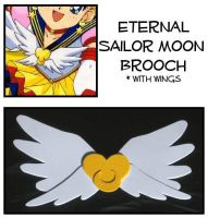 Eternal Sailor Moon Brooch by Topaz-Jewelry