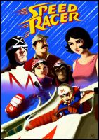Speed Racer by DavidRapozaArt