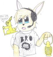 Pewdie the eevee :3 by SesshaXIII