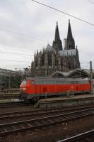 Locomotive and Cathedral by ZCochrane