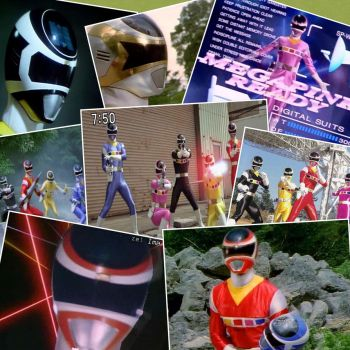Megaranger collage by amay3190