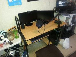 My Setup! [Room is a lil messy, had work, oopsie] by TheToxicDoctor