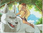 Princess Mononoke -Wolf girl- by Truz98