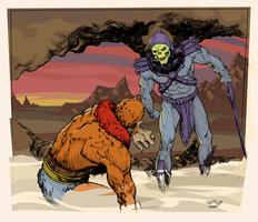 Skeletor cows Beastman - color by Laemeur