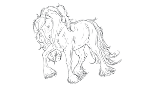 Horse Line Art by ApacheCove