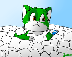 drowning in marshmallows by CoolCodeCat