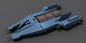 Star Wars Mandalorian Ship 3D by AdamKop