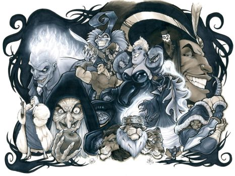Disney Villains by AdamWithers