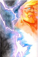 Thor with watercolor by RubenFD