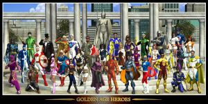 Golden Age Heroes by Raddar by Terraus635