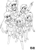 Winx girls- Sailor moon style by TecnoQueen