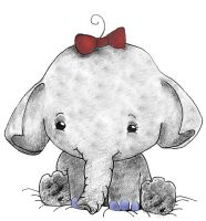 Ella the Elephant: For Sarah by minishadowlove