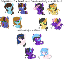 Shadowrosa6 Request Foals (Open) by Arianstar