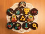 Zelda cupcakes by nenco